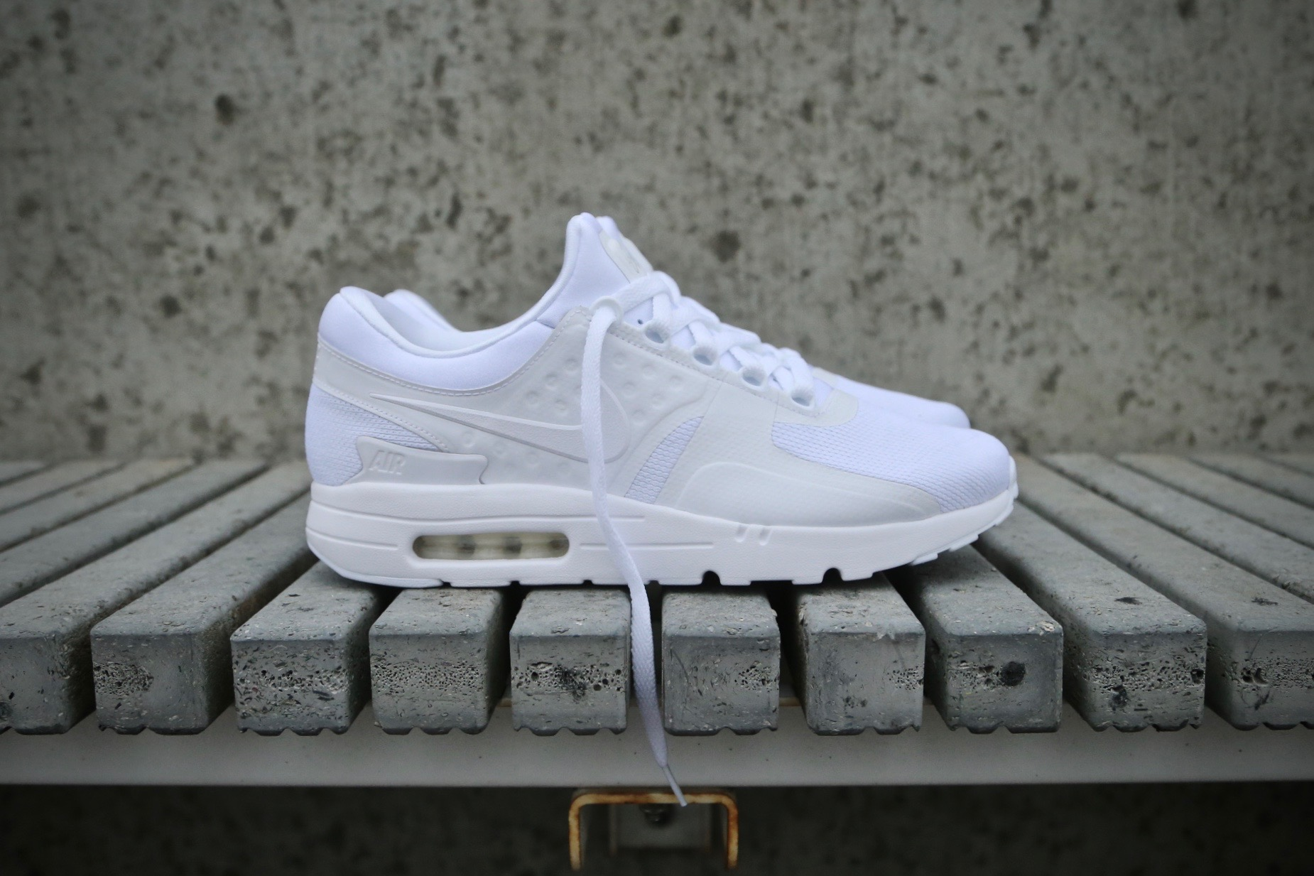 finest selection 8f369 23349 Nike Air Max Zero Essential – White   White   Wolf Grey – STASP