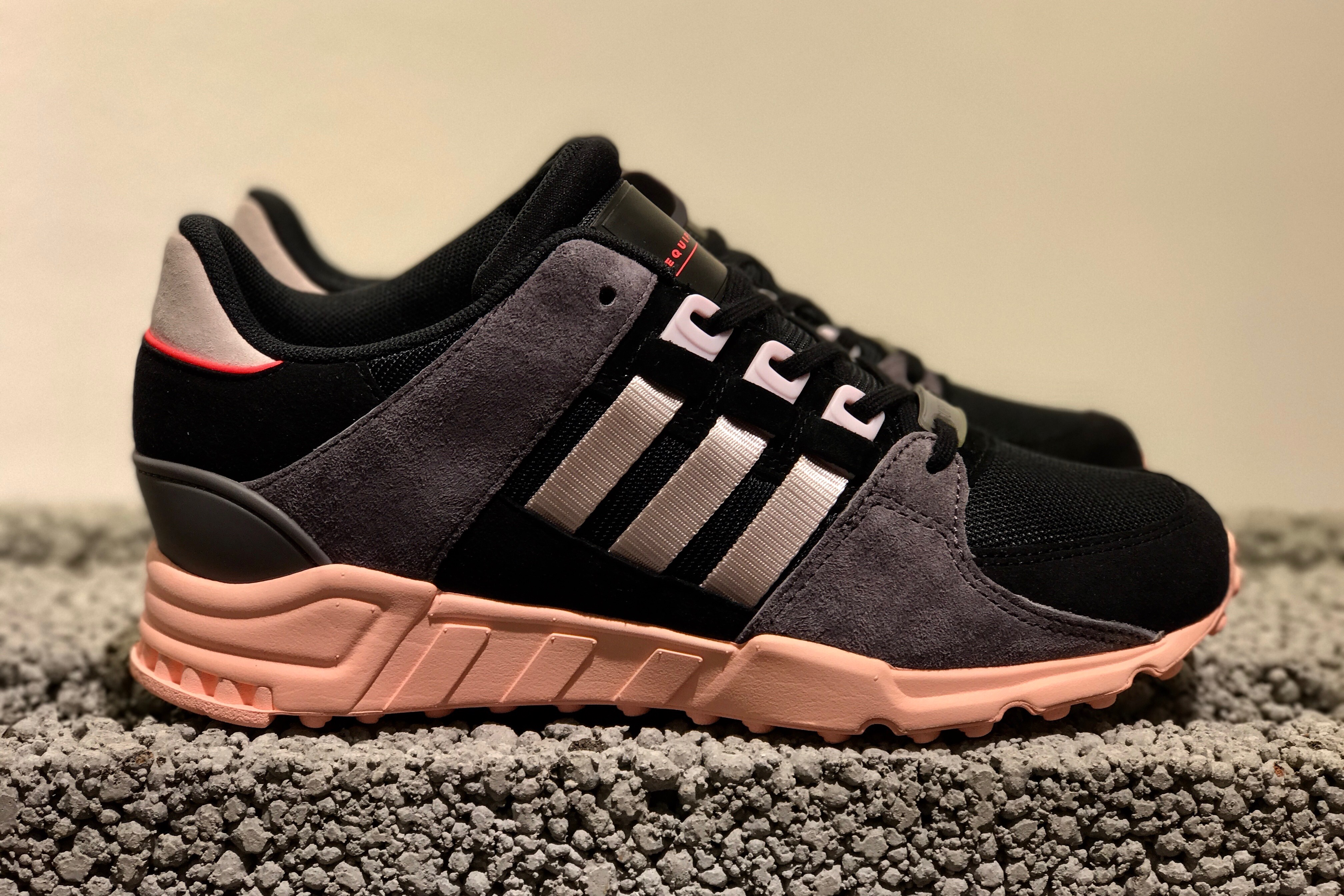 brand new c5865 c02b6 adidas Originals EQT Support RF W - Core Black / Ice Purple / Haze Coral