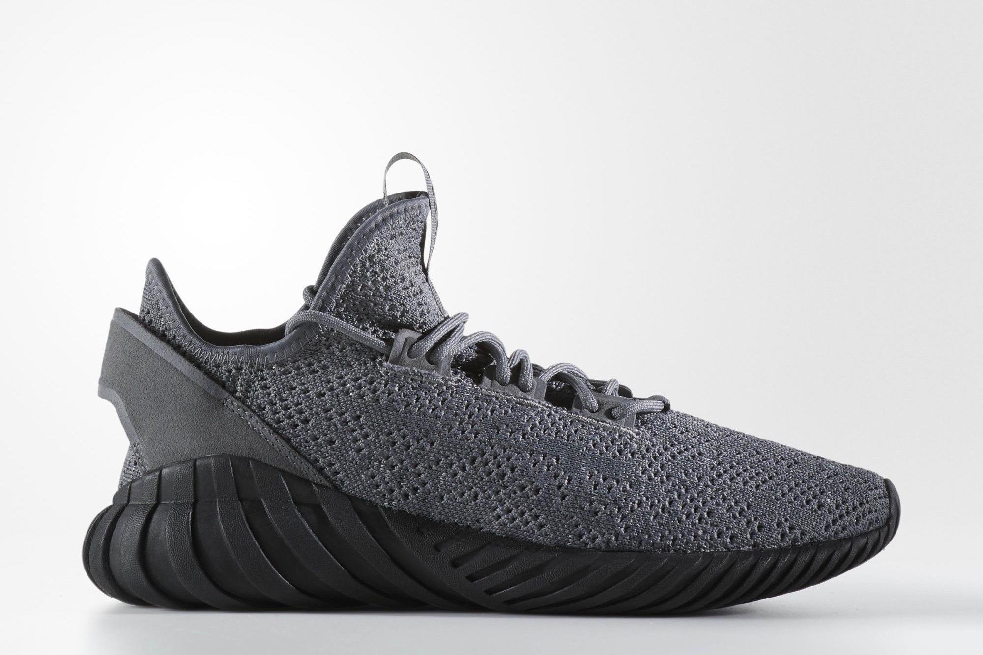 adidas Originals Tubular Doom Sock PK Grey Four Core Black Ftwr White