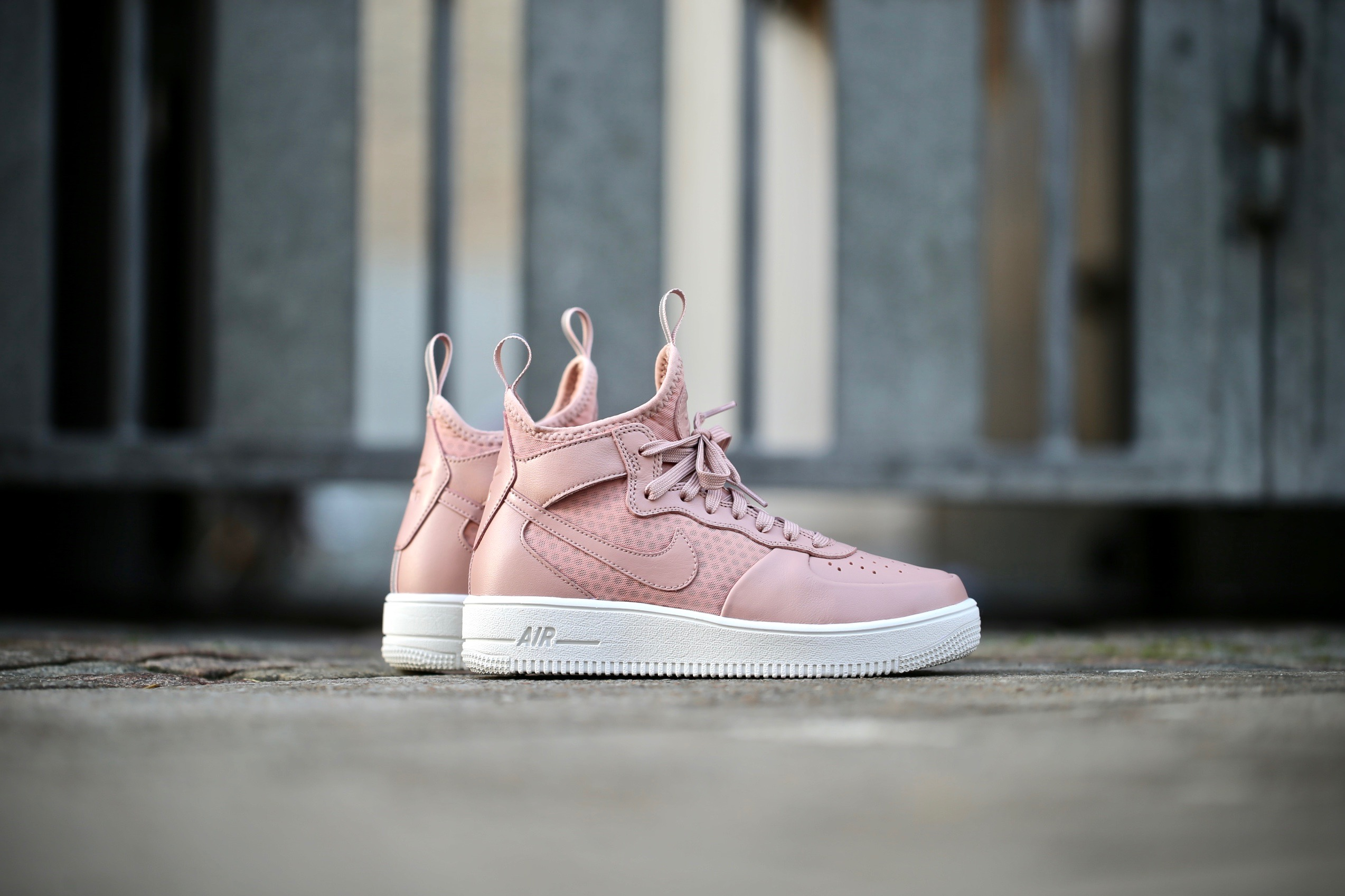 Zjednoczone Królestwo aliexpress Najnowsza Nike Wmns Air Force 1 UltraForce Mid - Particle Pink / Particle Pink