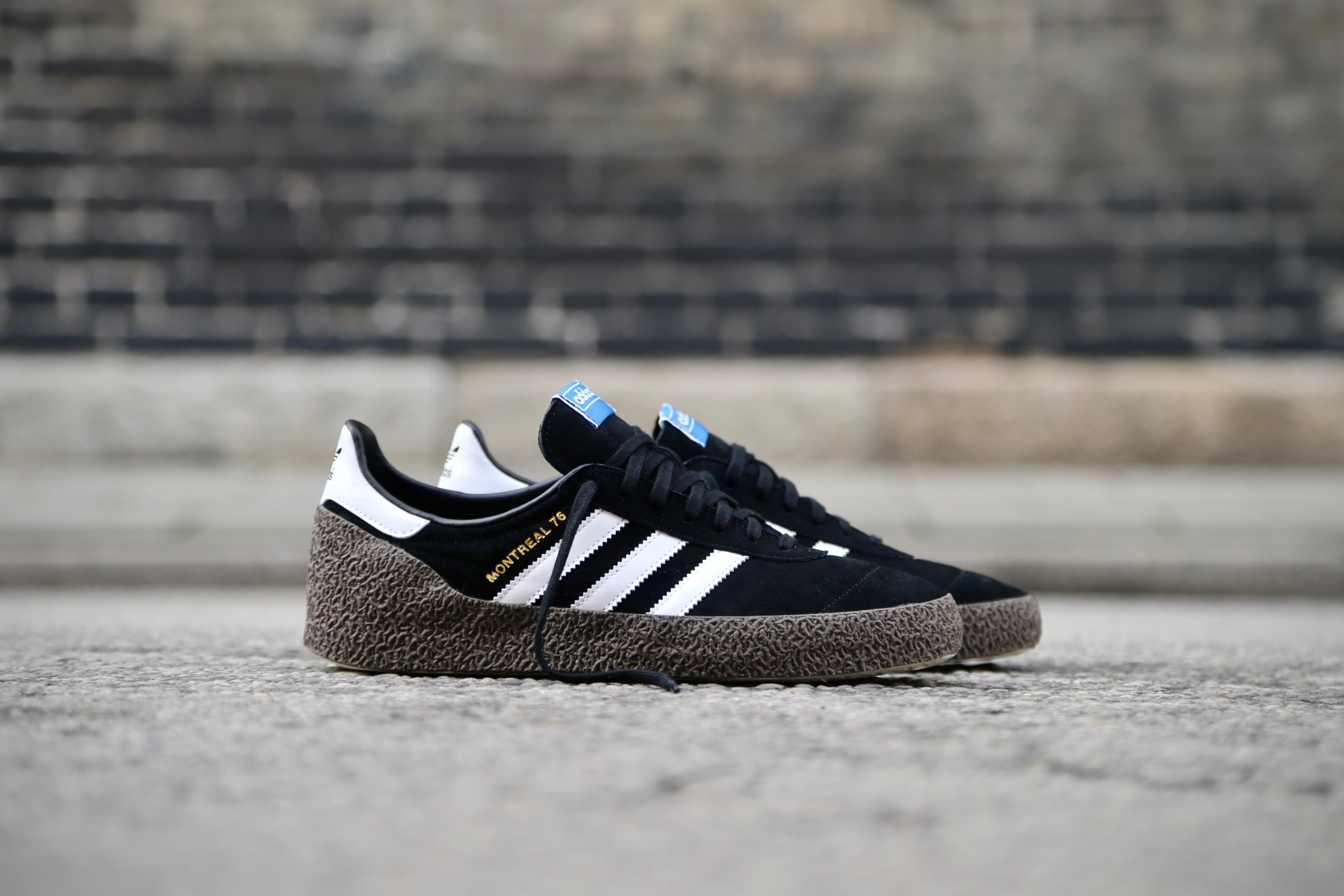 Paciencia Senador viuda  adidas Originals Montreal 76 – Core Black / Ftwr White / Gold Metallic –  STASP