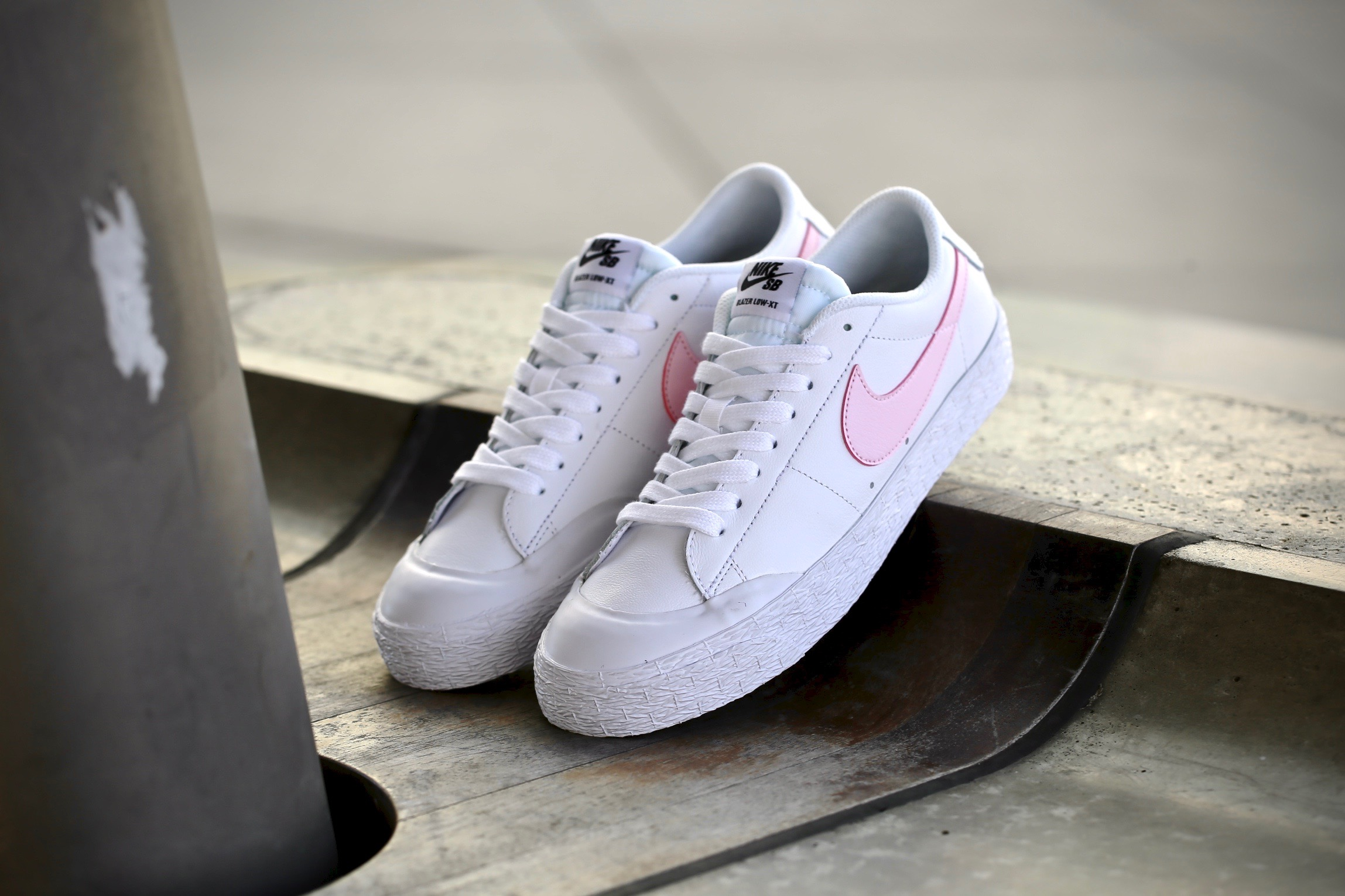 super popular b124c 79056 Nike SB Blazer Zoom Low XT – White  Prism Pink – STASP