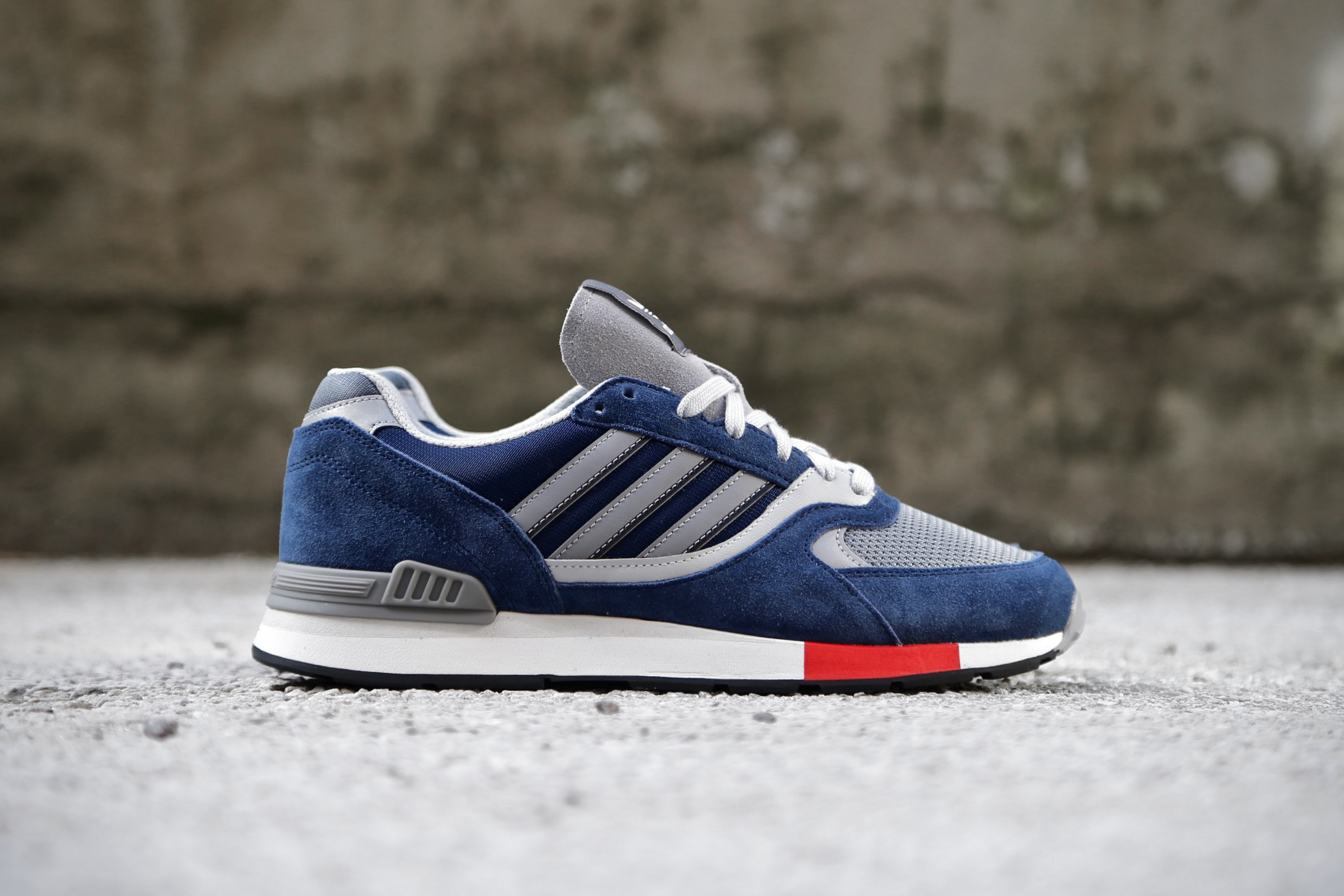 info for eaa82 baa7f adidas Originals Quesence – Collegiate Navy   Scarlet   Grey Two – STASP