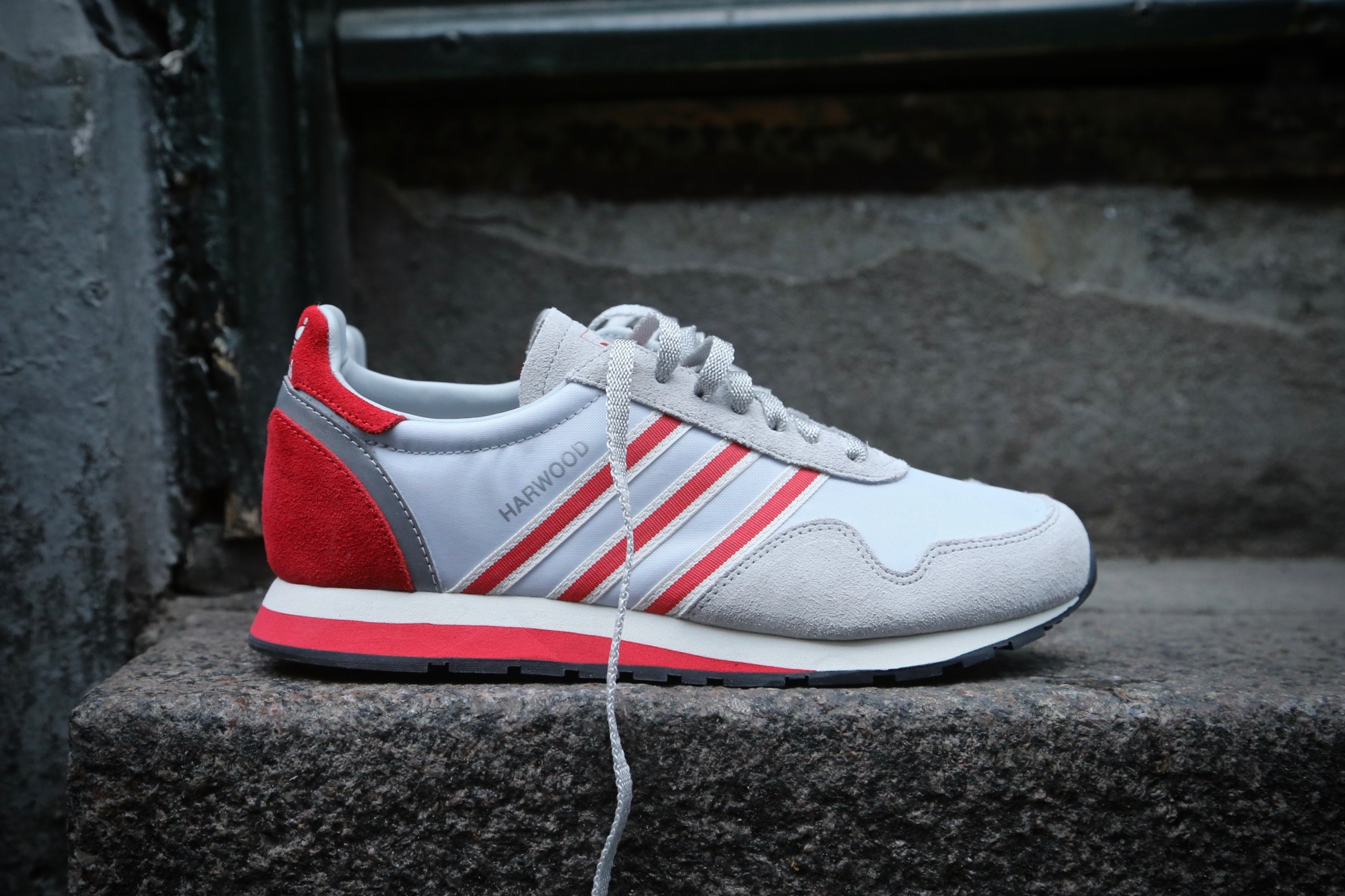 new style 9ab59 aa550 adidas Originals Harwood SPZL – Clear Grey  Ray Red – STASP