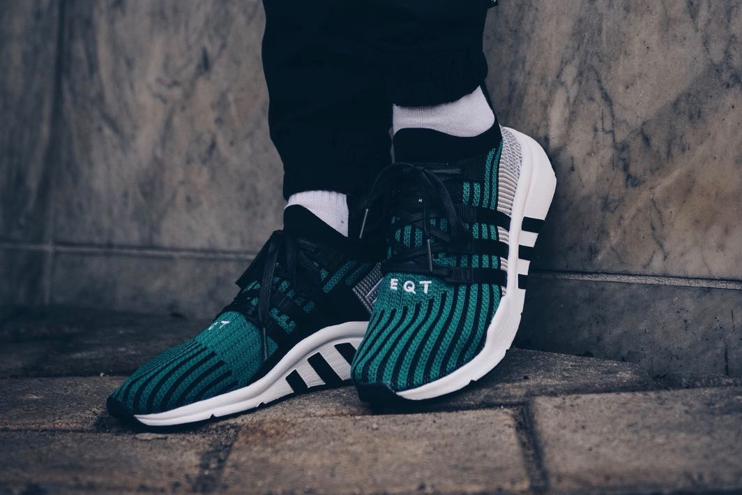 buy online 63933 d22f8 adidas Originals EQT Support Mid - Core Black / Sub Green