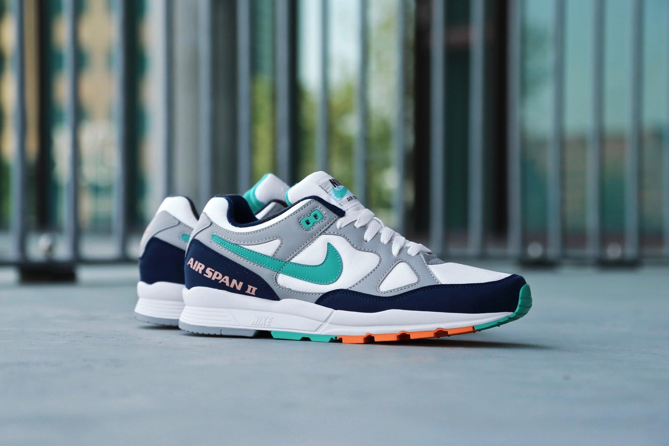 buy online 07969 a5b65 Nike Air Span II – Wolf Grey  Kinetic Green – STASP