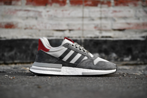 new concept 4e01c bcb97 adidas Originals ZX 500 RM - Grey Four  Ftwr White  Scarlet