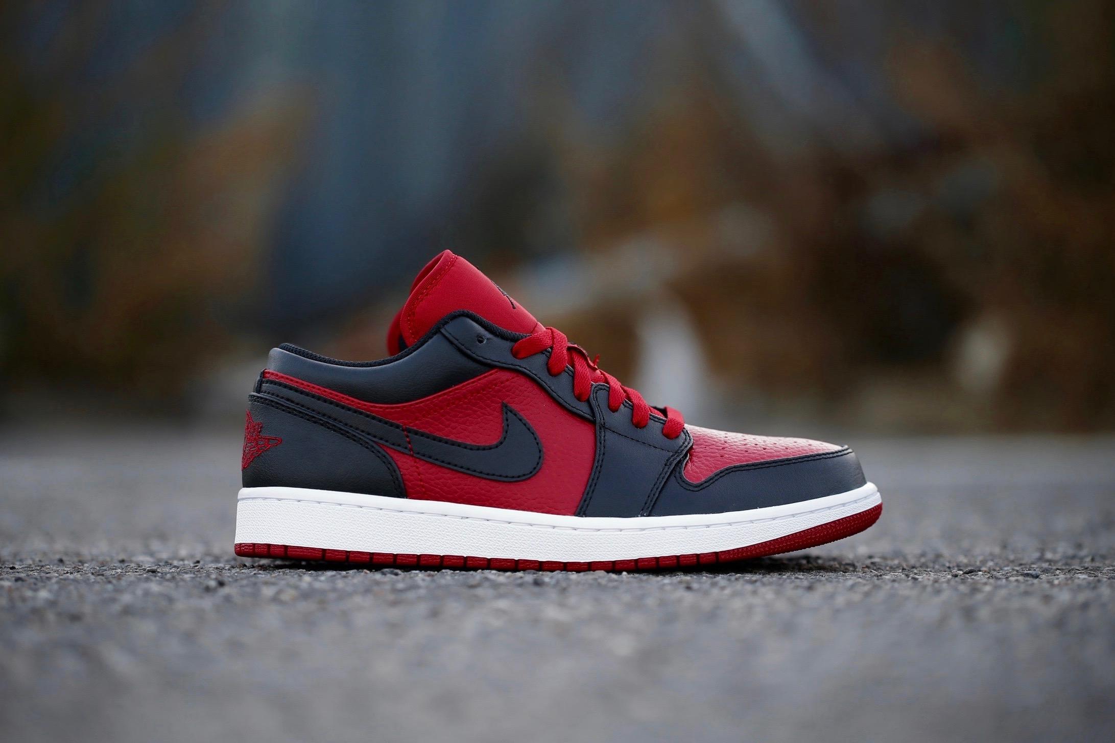 fd09042d30c Air Jordan 1 Low – Gym Red   Black – STASP