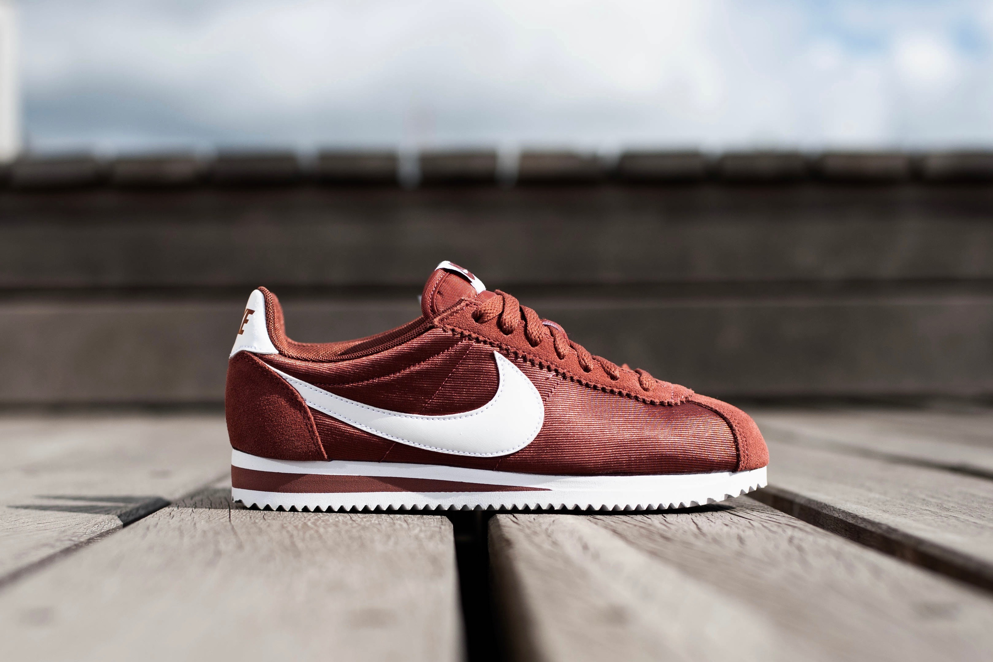fast delivery performance sportswear for whole family Nike W Classic Cortez Nylon - Red Sepia / White