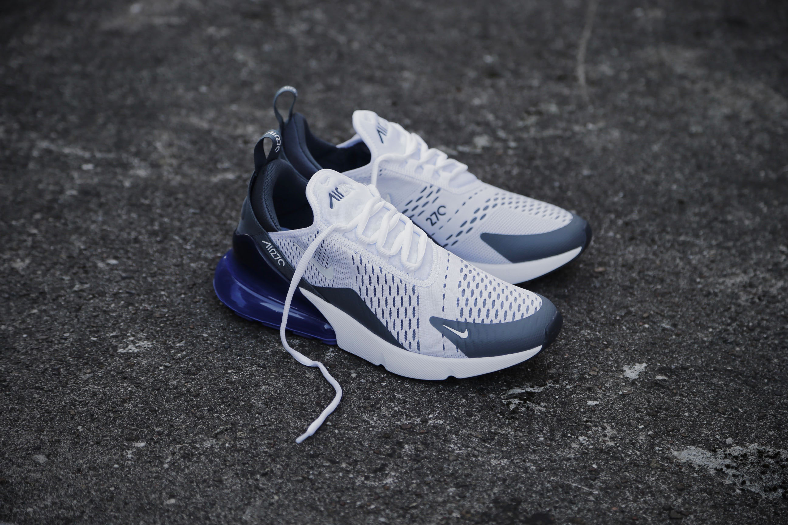 Nike Air Max 270 White Persian Violet Dark Grey