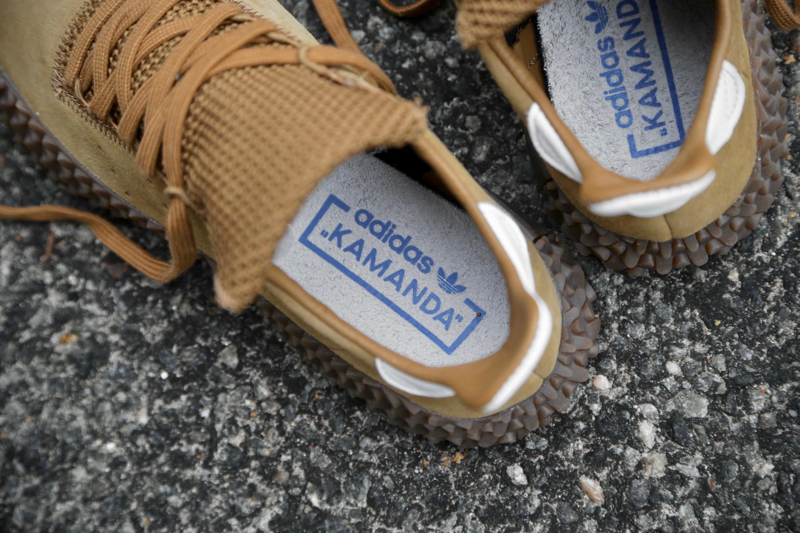 adidas Originals Kamanda Brown Raw Desert Crystal White