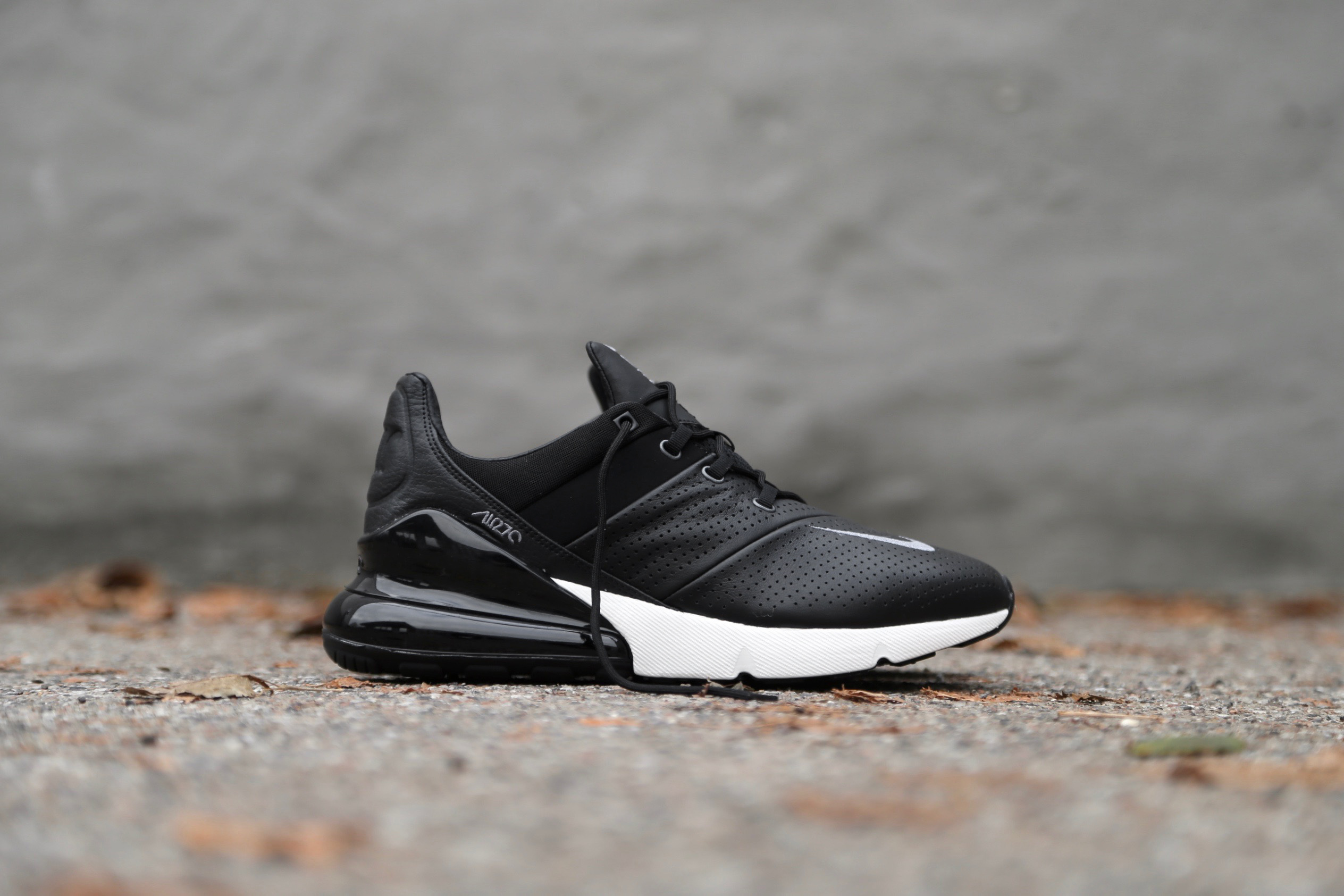 check out ac46f 9aa87 Nike Air Max 270 Premium - Black / Sail / Metallic Cool Grey / Light Carbon