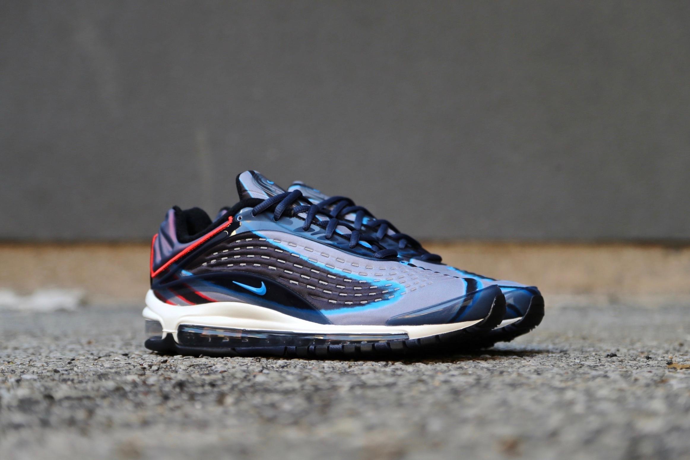 5b6b75a792e74a Nike Air Max Deluxe – Thunder Blue   Wolf Grey   Black   Photo Blue ...