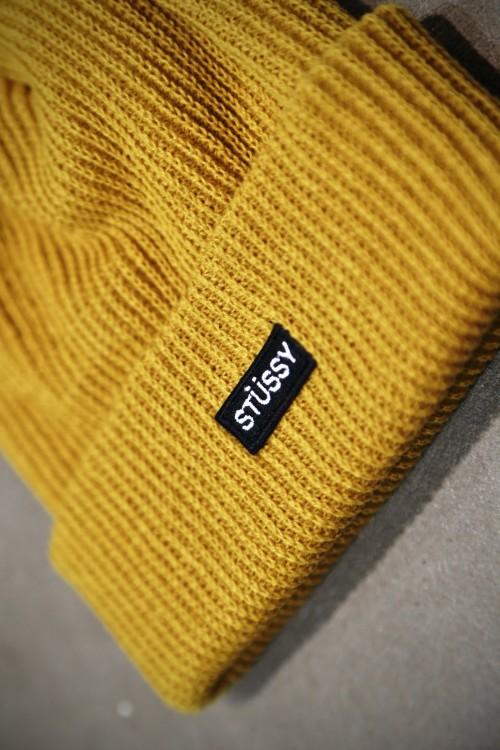 79181ca91ca Stüssy Small Patch Watch Cap Beanie - Mustard