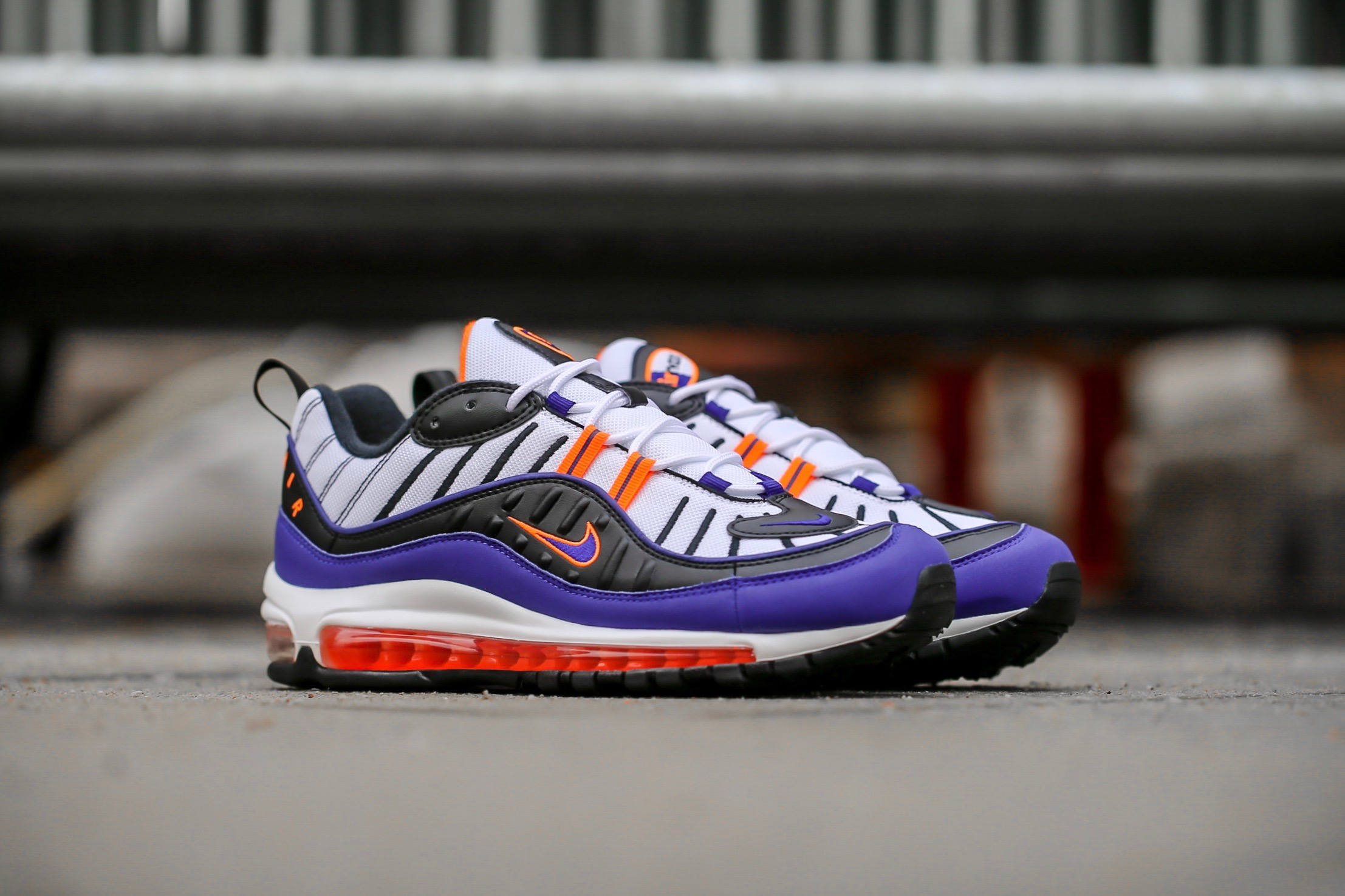 7c075d18eb Nike Air Max 98 – White / Deep Royal Blue / Total Orange – STASP