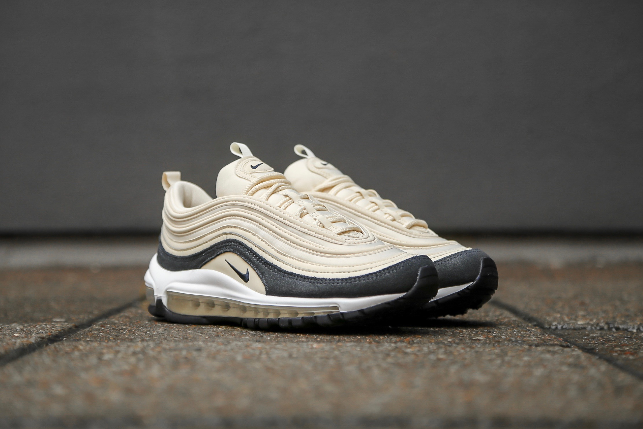 a2c63fa3a2 Nike W Air Max 97 PRM – Light Cream / Oil Grey – STASP