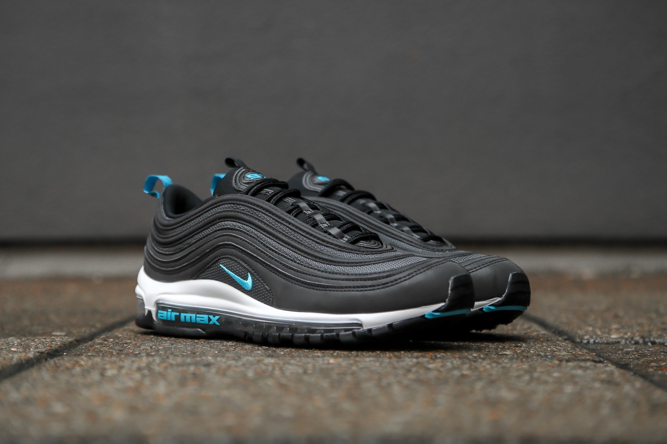 0390ab5476 Nike Air Max 97 – Black / Dark Grey / Blue Fury – STASP
