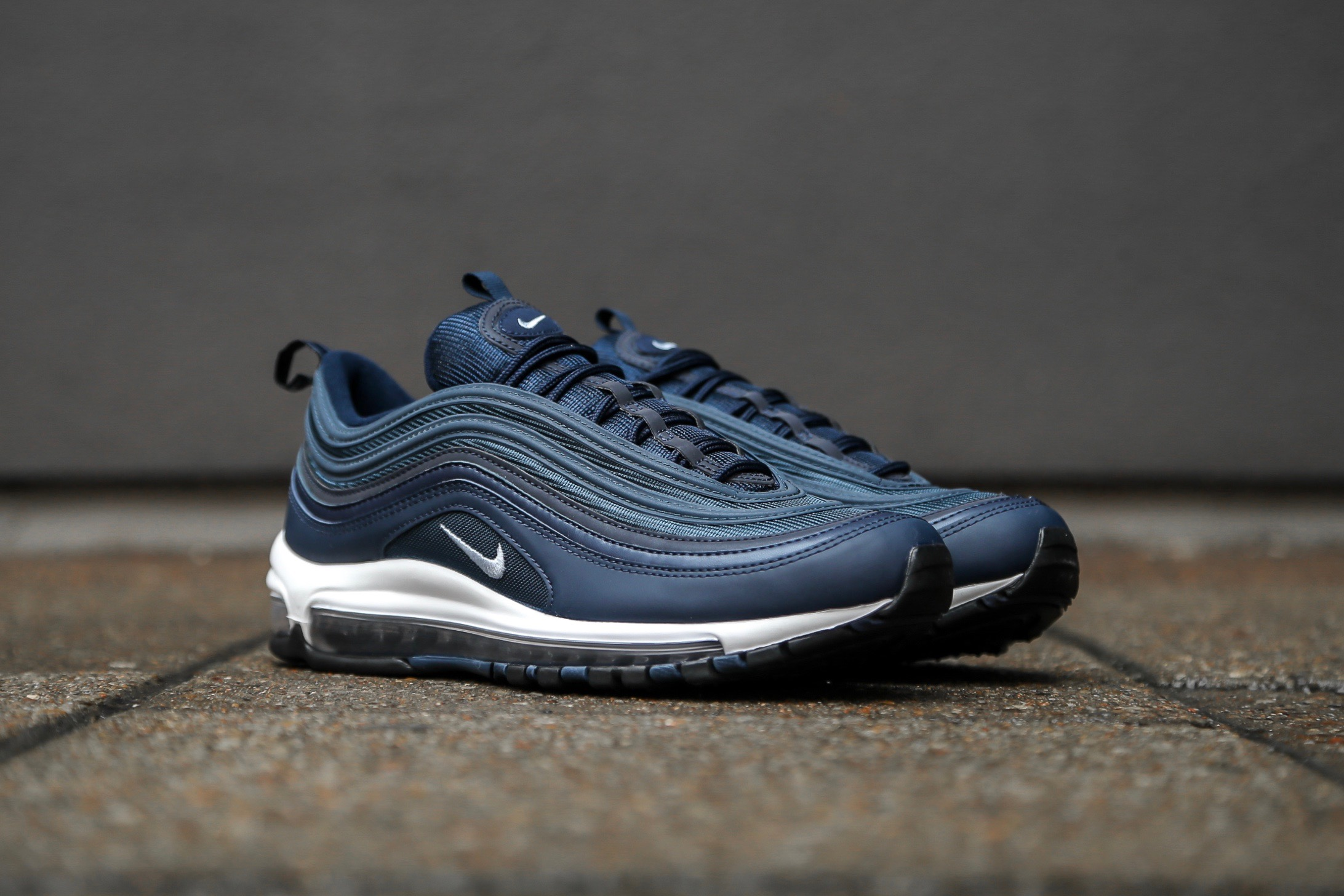 competitive price ab759 58554 Nike Air Max 97 Essential – Obsidian  Monsoon Blue  White ..