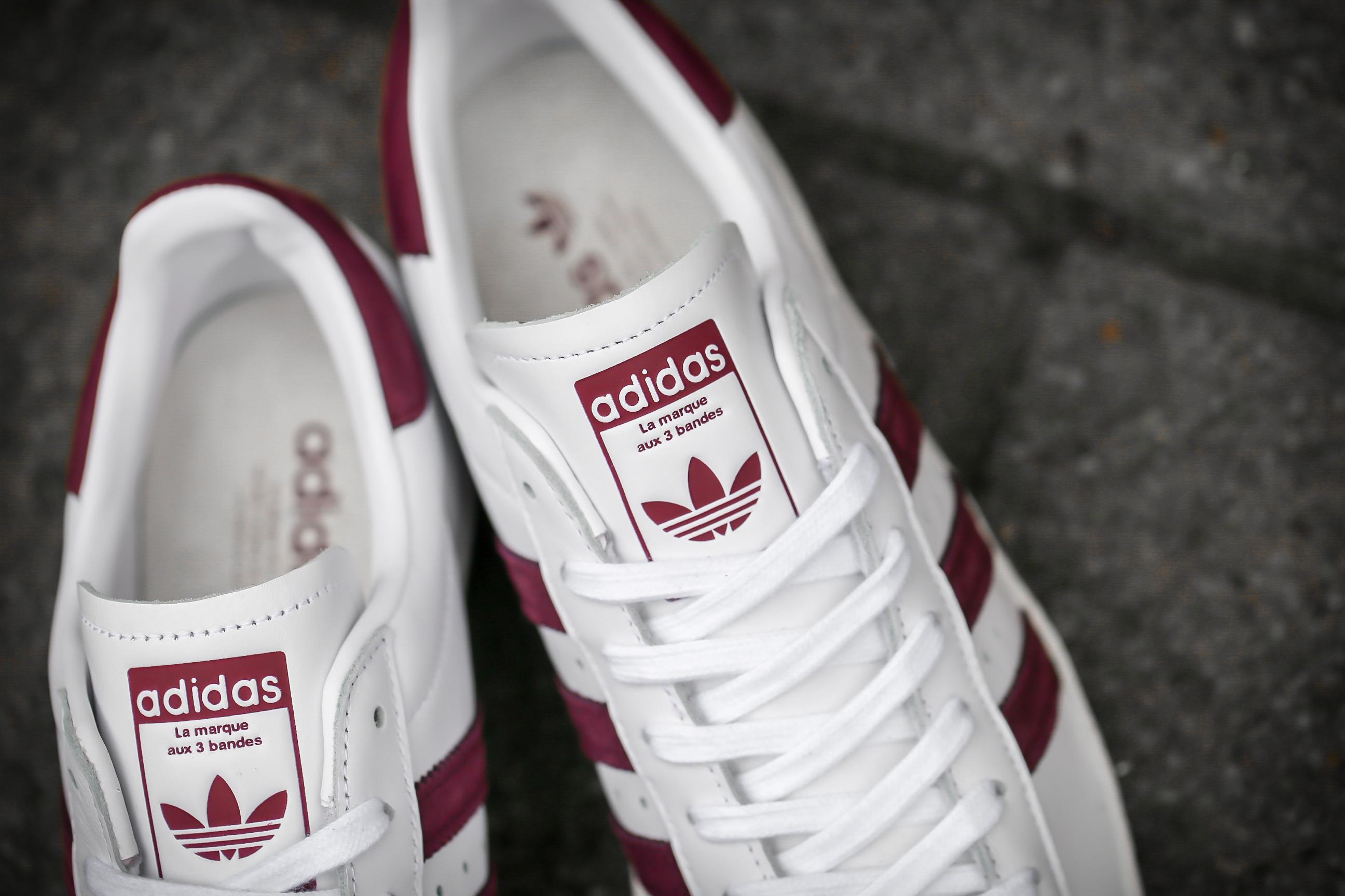adidas Originals Superstar 80s Ftwr White Maroon Crystal White